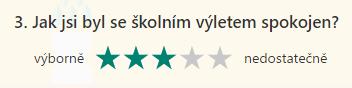 Průzkum - hodnocení