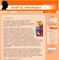 Starý web Ondřeje Neumajera před 2004-2016